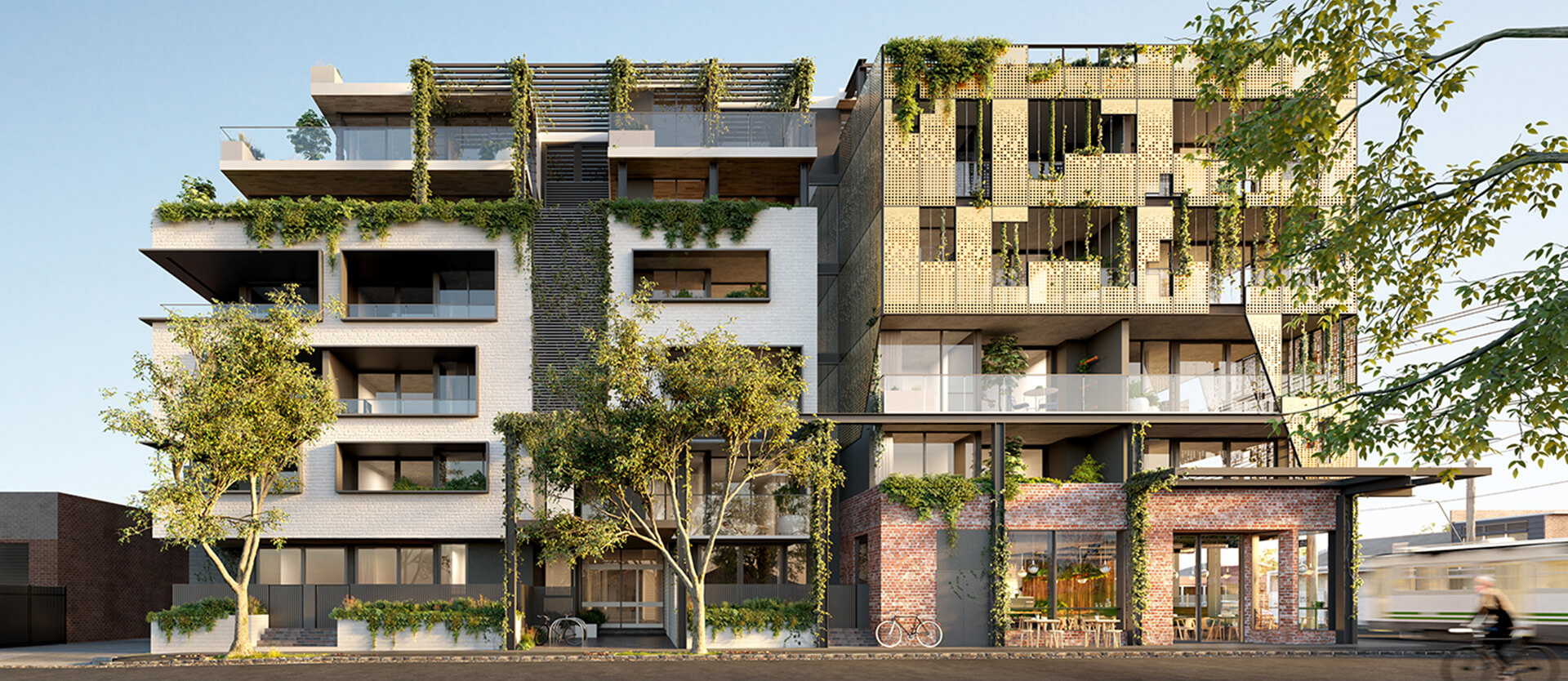 Render of Lucent's Brunswick East development in Melbourne